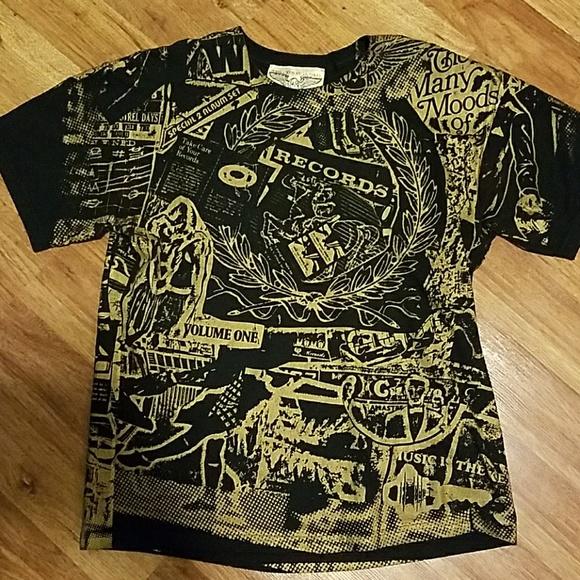7c7ee468d Monkey Shirts | Brooklyn Black Gold Sublimation Tee Shirt | Poshmark